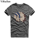 YiRuiSen Brand Men Short Sleeve T Shirt Men Casual 100% Cotton Tshirt Tops Camisetas Hombre Camisa