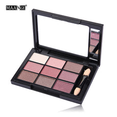 Best Deal New Fashion Cosmetic Matte Eyeshadow Cream Makeup Palette Shimmer Set 9 Color+Brush Set