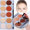 DE'LANCI 10 Color Contouring Makeup Kit Cream Based Professional Concealer Palette Face Make up Set Pro Palette High-end Formula