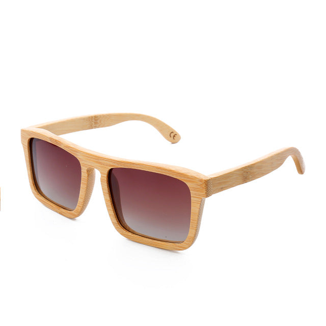 Bamboo Sunglasses Polarized Brand Designer Mirror Original Wood Sun Glasses Original Box Retro Vintage Eyewear