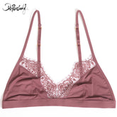 DeRuiLaDy Fashion Sexy Bras Exquisite Adjusted Straps Nylon Women Lingerie Comfortable Lace Bralette Ultra Thin Seamless Bra