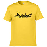 Hot sale summer 100% cotton Marshall t shirt men short sleeves tee hip hop streetwear for fans hipster XS-2XL #220