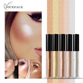 Niceface 5 Colors/set Liquid Concealer Cream Contour Palette Kit Makeup Bronzer Highlighter Powder Face Chin Silkworm Brighten
