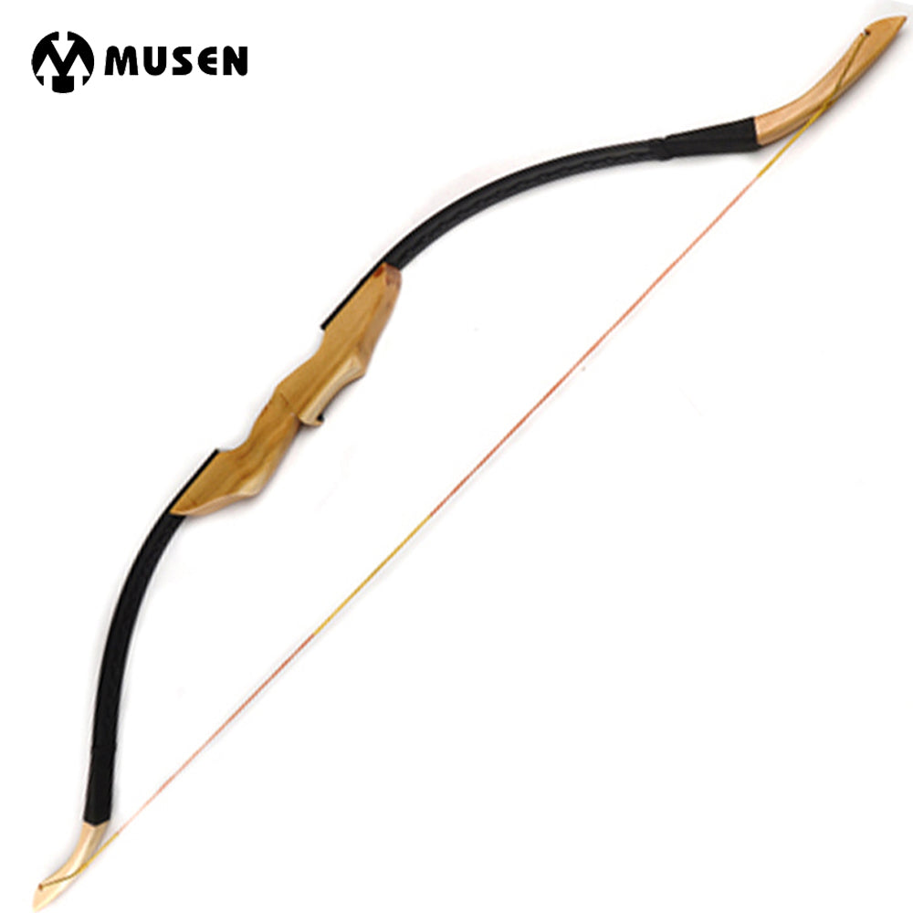 30/40LBS Traditional Mongolian Recurve Bow for Right/Left Hand with Mingjiao Wooden Handle and Fur Rest Archery Hunting/Shotting
