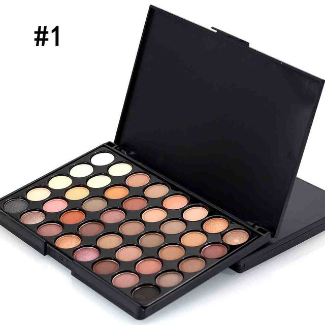 40 Color Professional Matte Eyeshadow Palette Women Facial Long Lasting Luminous Eye Shadow Palette Eye Cosmetics Makeup Tools
