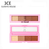 3CE EUNHYE HOUSE Brand Eye Shadow  Long-lasting  Waterproof Natural 4 Colors Eye Shadow Matte Satin Shimmer makeup tools
