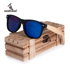 New Gifts Men's Sunglasses Bamboo Legs Polarized Lens Cool Sun Glasses With Wood Gift Boxes for Friends CG004