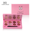 3CE EUNHYE HOUSE Brand Waterproof Natural Eye Shadow Matte Satin Shimmer Cosmetic Long-lasting Eye Shadow 8 Colors In 1 Hot Sale
