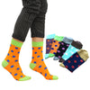 5 Pairs Men Short Sock Tide Brand Happy Socks Patchwork Colorful Dot Personality Men Socks Autumn Winter comfortable Cotton Sock