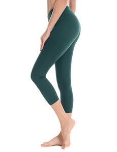 Women's Running Tights Flex Workout Capris Leggings Yoga Pants with Pockets