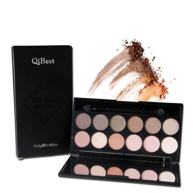 12 Color Earth Nudes Naked Eye Shadow Palette Waterproof Cosmetic Makeup Matte Smoky Eyeshadow Pallete Beauty Tool High quality