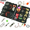 128Pcs Fishing Tackle Set Fishing Jigs Hooks Spoons Swivels Snap Glow Beads Weight Sinker Fishing Accessories Box Cover Case Kit