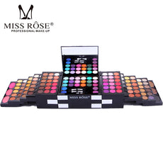 Miss Rose Brand Make Up Cosmetic Box Waterproof Shimmer Mineral Powder 144 Color Eyeshadow Blush Professional Full Makeup Kit