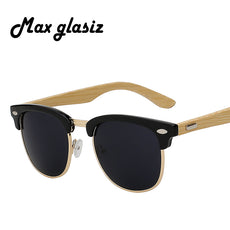 New brand designer bamboo sunglasses wood for women men vintage glasses retro mens gafas    madeira