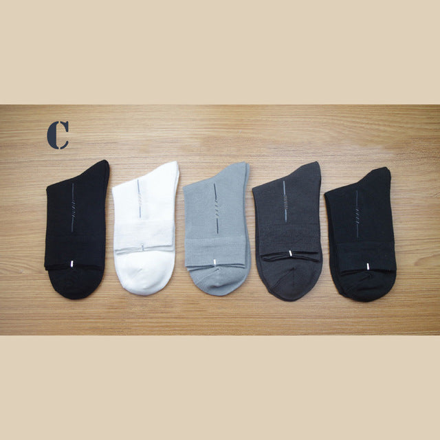 Breathable Men Socks Bamboo Fiber Comfotable Casual Socks 5 pairs/lot Socks Anti-bacterial Cool Male Long Casual Meia Masculinas
