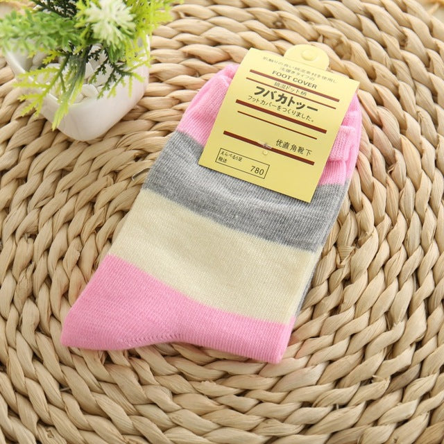 CRAZY FLY 2018 Spring And Autumn New Korea stripe Cat Women socks Cute Cotton Warm Casual Cheap Harajuku Funny Socks meias Gift