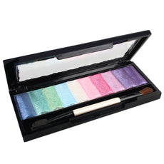10 Color Eyeshadow Makeup Pallete Baked Powder Smooth Velvet Glitter Eye Shadow Cosmetic Set with Brush