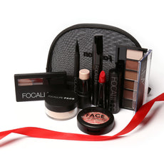 FOCALLURE Makeup Tool Kit 8 PCS Must Have Cosmetics Including Eyeshadow Lipstick With Makeup Bag Makeup Set 8PCS/SET
