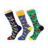 3 pairs/lot Cotton Men Socks Quality Brand  Fall Colorful Pattern Coolmax Funny Happy Dress Wedding Male Crew Socks Plus Size