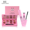 3CE EUNHYE HOUSE Waterproof Matte Peach Gel Cosmetic Eye Shadows paillettes with Stick& Long-lasting Mascara Makeup Set Hot