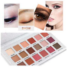 18 Colors Eyeshadow Palette Matte Glitter Matallic Eye Shadow Somkey Powder Palette Blush Pro Makeup Set For Eyes Beauty