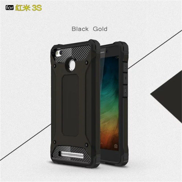Beworlder For Xiaomi Redmi 3S Case TPU and PC Hard Case ShockProof Dual Protector Phone Armor Cover For Xiaomi Redmi 3 Pro