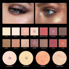 Professional Eyeshadow Palette Make Up Glitter Powder Pigment  Cosmetics Waterproof Nude Matte Eye Shadow Makeup Palette