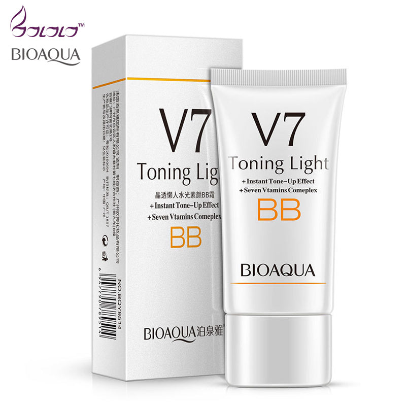 BIOAQUA brand V7 BB Creams Natural Air Cushion Long Lasting Makeup Concealer Brighten Waterproof CC Creams Sun Block skin care