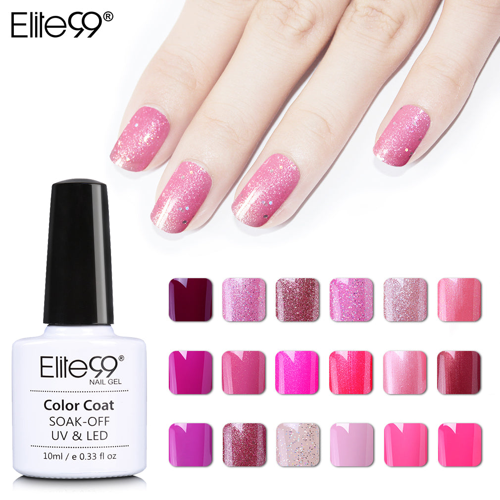 Elite99 Newest Professional UV Gelpolish Magenta Series UV Nail ...