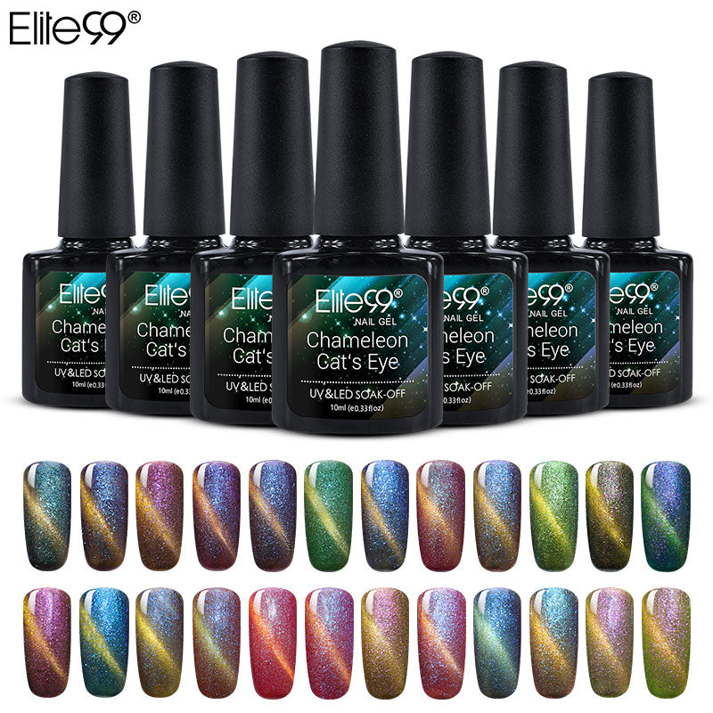 Elite99 Gel Polish Chameleon Cat Eye Nail Soak Off UV All 24pcs Professional