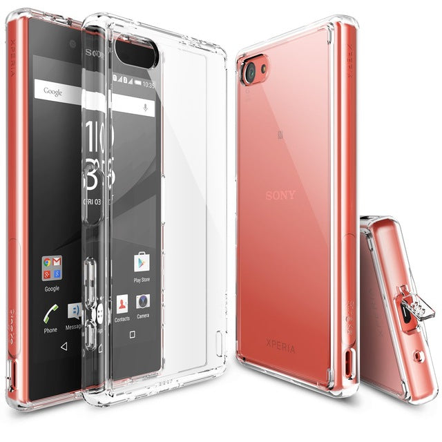 100% Original Ringke Fusion Case for Sony Xperia Z5 Compact (4.6 inch) Crystal Clear Back Panel Drop Resistance Cases