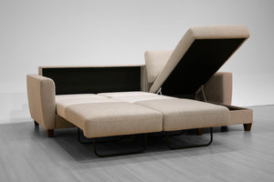 Flex Full Size Loveseat Chaise Sleeper Luonto Furniture