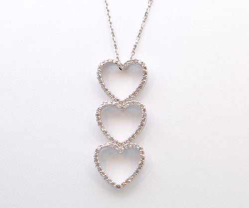 Triple Heart Diamond Pendant