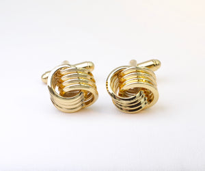 Gold-plated Love Knot Cufflinks
