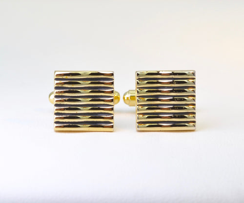 Ripple Gold-plated Cufflinks