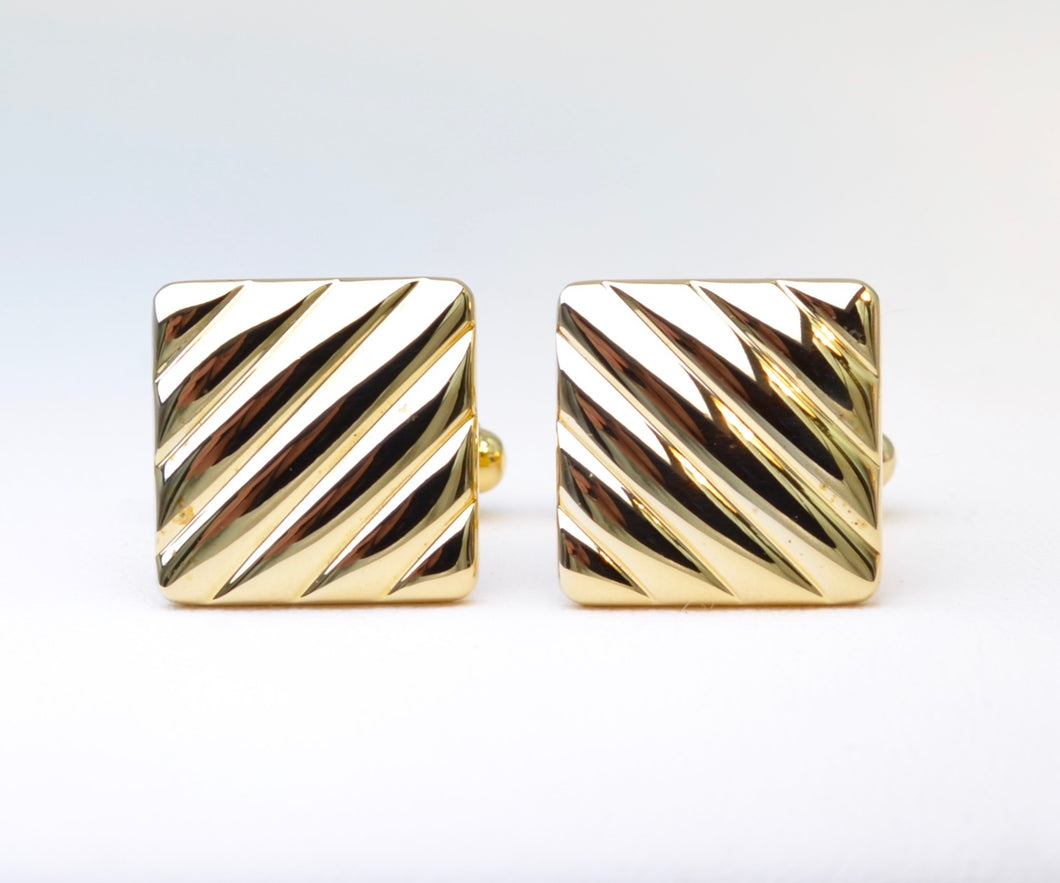 Gold-plated Square Cufflinks