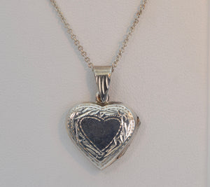 Sterling Silver Engraved Decoration Heart Locket