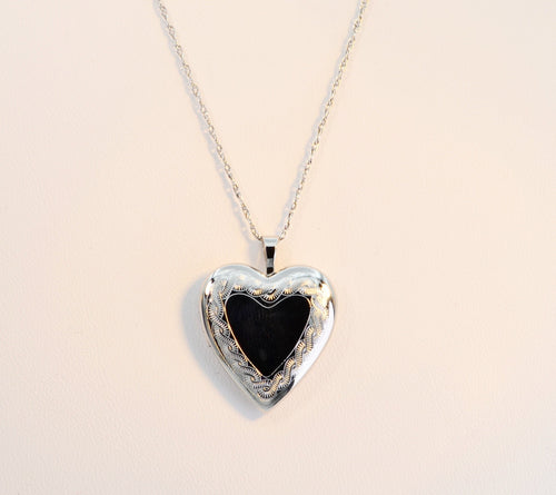 Sterling Silver Krementz Heart-Shaped Locket