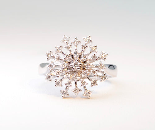 Diamond Snowflake Ring