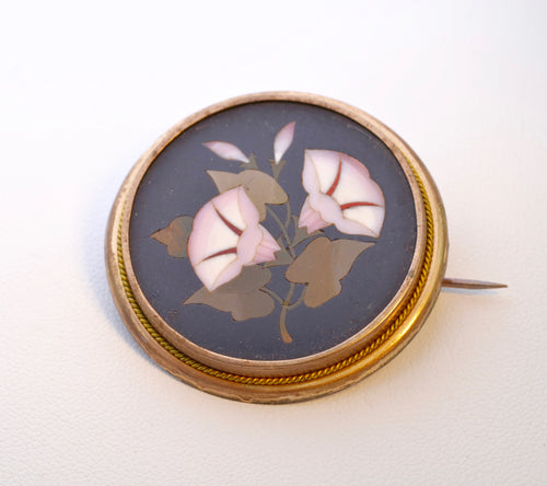 Pietra Dura Onyx with Flowers