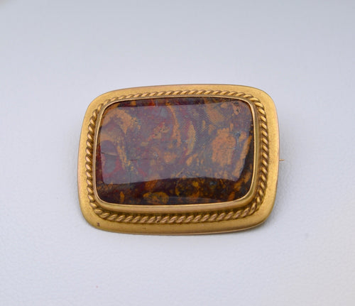 Victorian Brooch with Picture Agate
