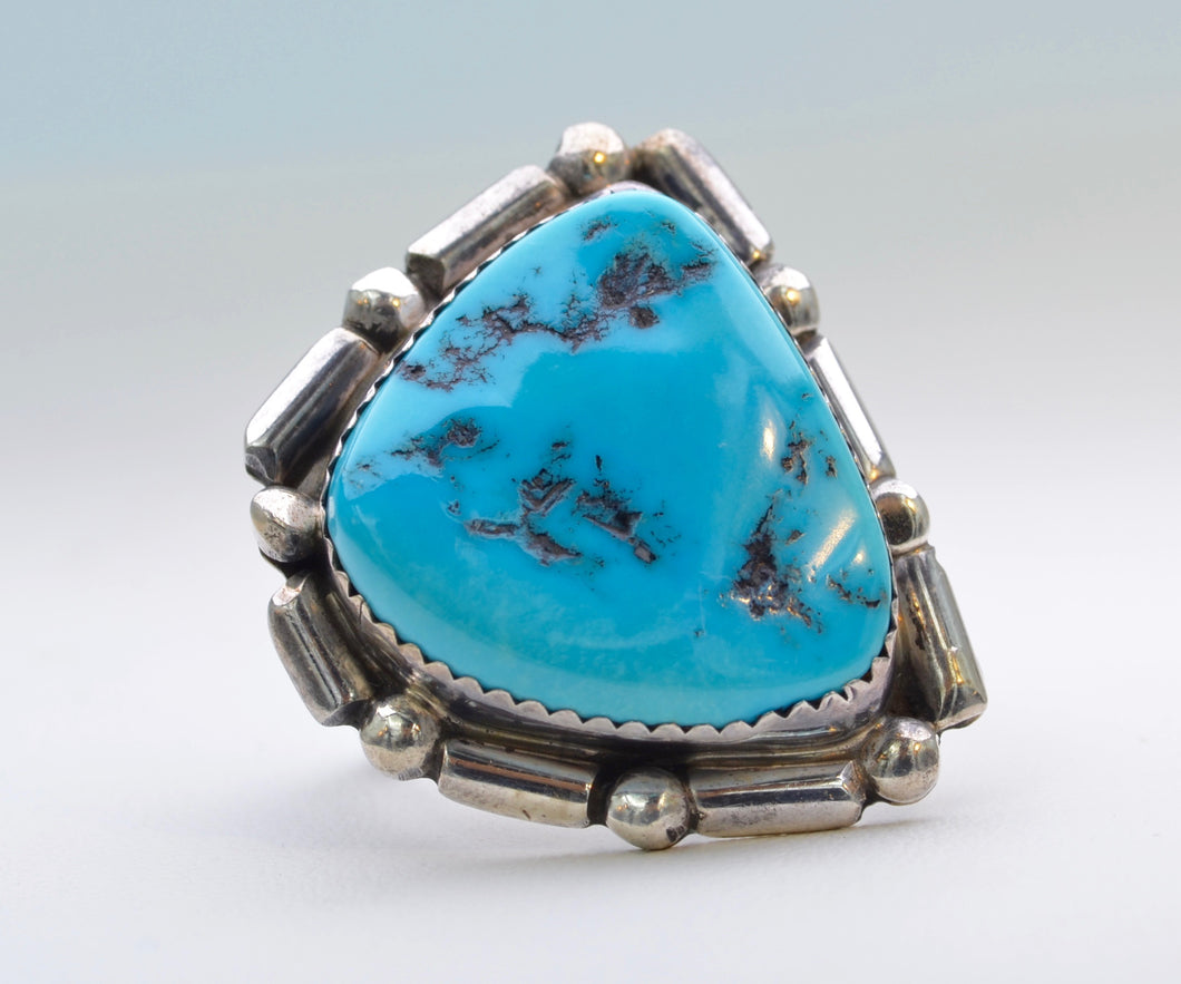 American Indian Turquoise Silver Ring