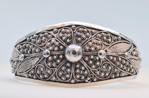 Fancy Sterling Silver Cuff Bracelet