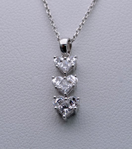 "18K white gold ""Lady Heart"" Diamond pendant"