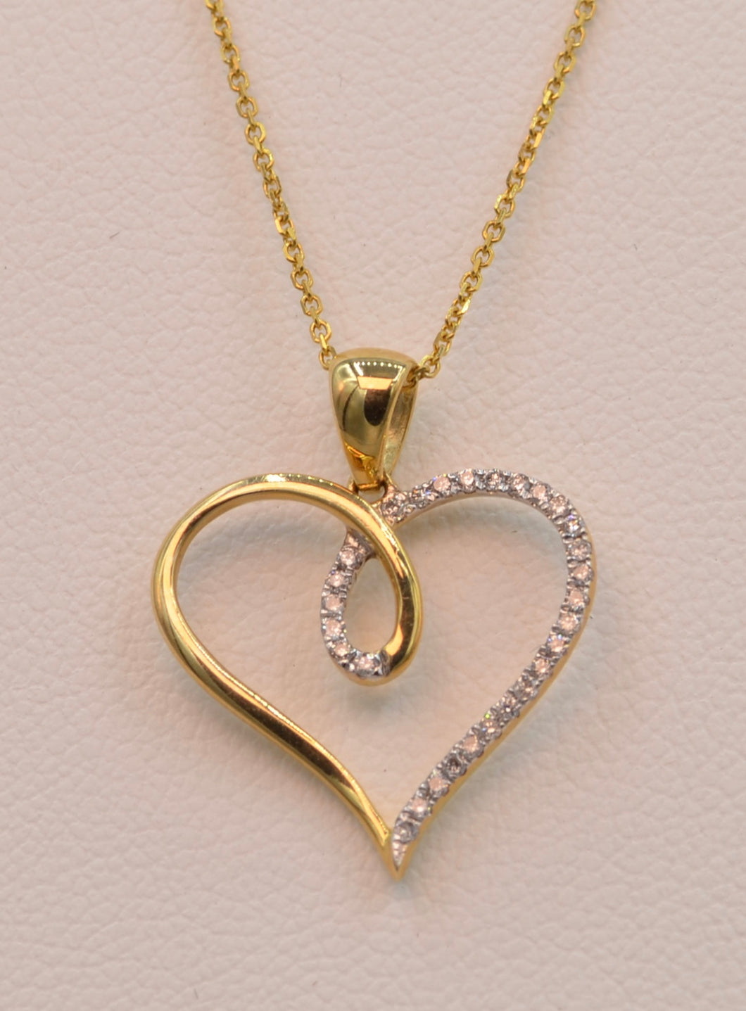 dsc products with pendant diamonds gold heart yellow shaped