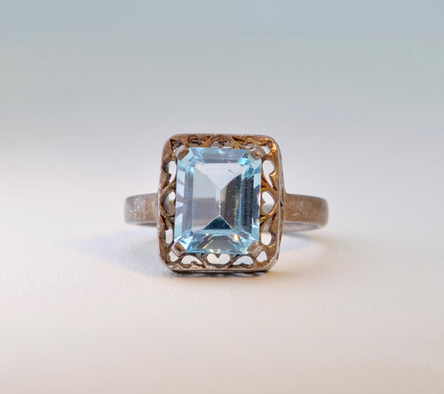 Blue Topaz Ring in Sterling Silver