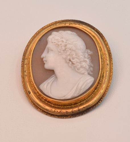 19th Century Cameo, 14K Gold Frame