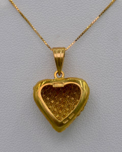 18K yellow gold woven Heart pendant, Italian design