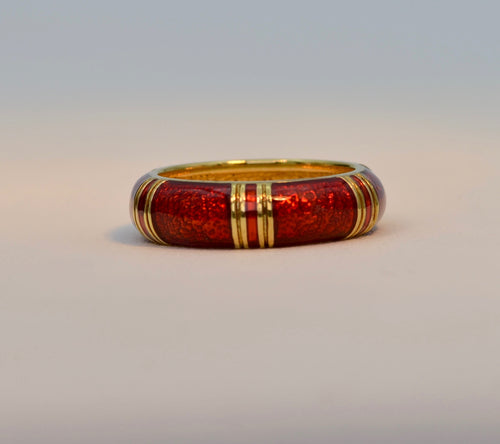 18K yellow gold Hidelgo enamel band