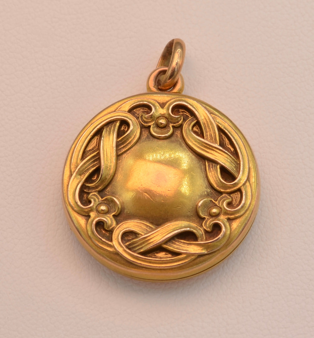 14K Art Nouveau Locket